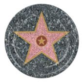 "Walk of Fame Star 9"" Plates-8 Pack"