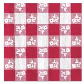 Red Gingham Flower Lunch Napkins - 18 Per Unit