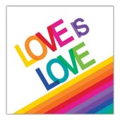 Rainbow Pride Love Lunch Napkins - 16 Per Unit
