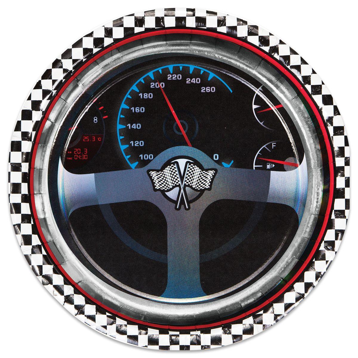 "Car Racing Plates - 8 3/4"""" - 8 Per Unit"" PAP5974DPUN"