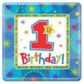 One-Derful First Birthday Boy Plates - 10 Inch, 8 Pack