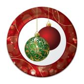 "Christmas Ornaments 7"" Plates - 8 Per Unit"