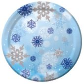 "Snowflake Magic 10"" Plates - 10 Pack"