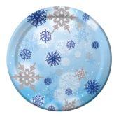 "Snowflake Magic 7"" Plates – 8 Pack"
