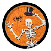 "Skeleton Dancer Plates - 8 3/4"" -  8 Per Unit"
