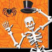 Skeleton Dancer Lunch Napkins- 16 Per Unit