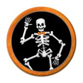 "Skeleton Dancer Plates - 7"" -  8 Per Unit"