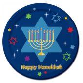 """Hanukkah Festive 8 ¾"""" Plates – 8 Pack"""