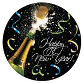 "New Year Cheers 8 3/4"" Plates - 8 Per Unit"
