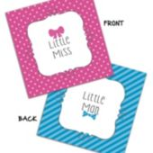 Little Man or Little Miss Beverage Napkins – 16 Pack