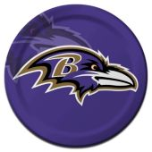 "Baltimore Ravens Plates - 9"" - 8 Per Unit"
