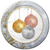 "Holiday Ornaments Plates - 10"" - 8 Per Unit"
