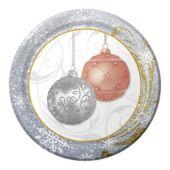"""Holiday Ornaments Plates - 7"""" - 8 Per Unit"""