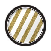 "Black & Gold Plates - 7"" - 8 Per Unit"
