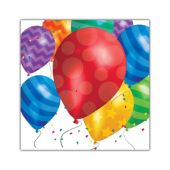 Balloon Blast Beverage Napkins - 16 Per Unit