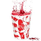Bloody Hand Print 9 Oz Cups – 8 Pack