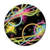 """Glow Party Plates -7"""" - 8 Per Unit"""