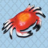 8 Inch Hard Plastic Crabs - 12 Pack
