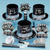 Silver Fantasy Happy New Year Party Kit For 50