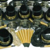 Gold Showboat New Year's Party Kit for 100 People