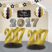 Black, Silver, Gold 2017 Decorating  Kit