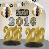 Black, Silver, Gold 2016 Decorating  Kit