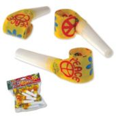 Peace Sign Party Blowouts - 12 Pack