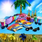 Luau Party Kit - 8 Guests