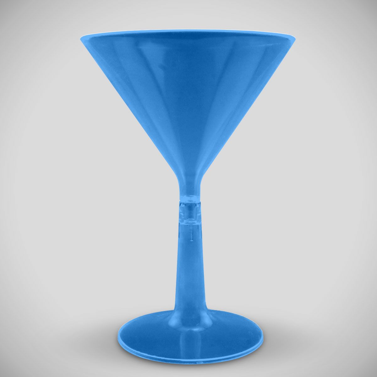Blue Neon Plastic Martini Glass PAR721EA