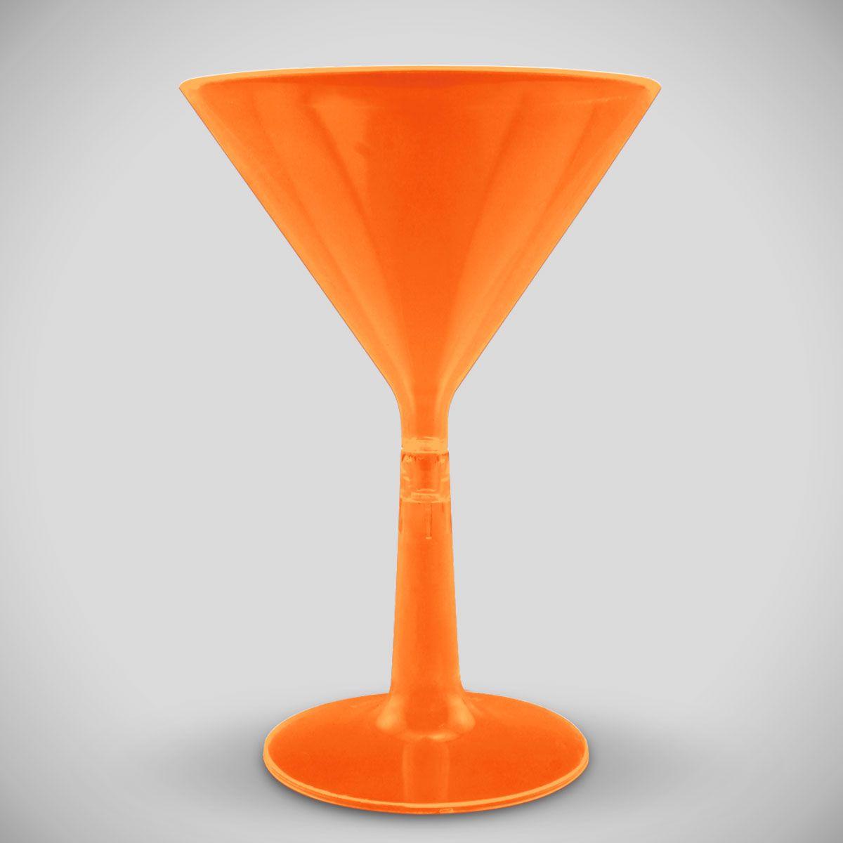 Orange Neon Plastic Martini Glass PAR726EA
