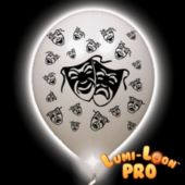 Mardi Gras Mask White Balloons White Lights