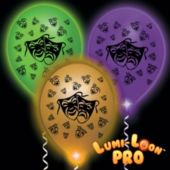 Mardi Gras Mask Assorted Balloons Assorted Lights - 10 Pack