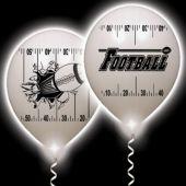 Football Yardline White Balloons White Lights - 10 Pack