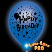 Birthday Lumi-Loons White Balloons Blue Lights - 10 Pack