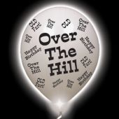 Over the Hill Lumi-Loons White Balloons White Lights - 10 Pack