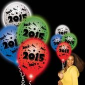 2015 White Pro Lumi Loons With Assorted Lights - 10 Pack