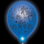 Fireworks Lumi-Loons White Balloons Blue Lights