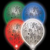Fireworks Lumi Loons White Balloons Assorted Colored Lights - 10 Pack