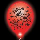 Spider Lumi-Loons Balloon Lights White Balloons Red Lights - 10 Pack