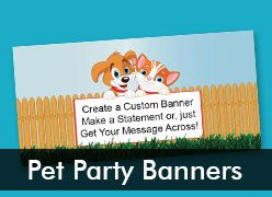 Pet Party Custom Banners