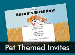 Personalized Pet Theme Invitations