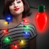 Christmas Bulb LED and Light-Up Necklace