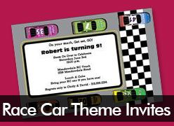 Personalized Race Car Invitations