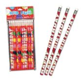 Happy Birthday Pencils-12 Pack