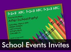 Personalized School Event Invitations