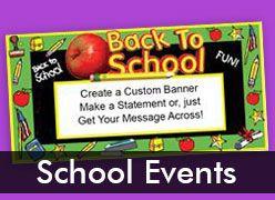 School Event Custom Banners
