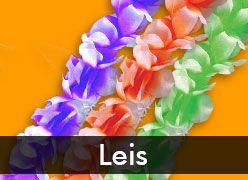 Plastic Leis & Silk Flower Leis