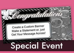 Special Event Custom Banners