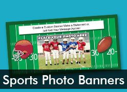 Sports Custom Photo Banners