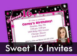 Personalized Sweet 16 Invitations